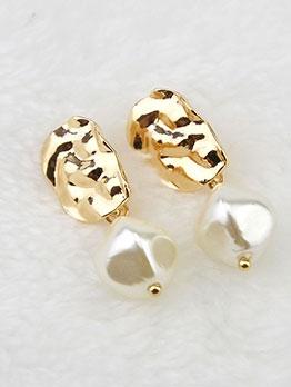 Alloy Material Grace Faux-Pearl Ladies Earrings