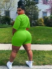Solid Letter Casual Sport Plus Size Trouser Set