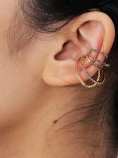 Vintage National Style Rhinestone Women Earrings