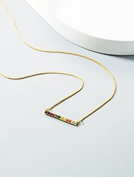 Iridescent Imitated Crystal Women Fashion Necklace