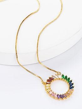 Creativity Circular Zircon Fashion Women Necklace