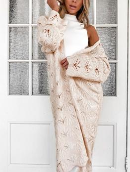 Versatile Solid Long Sleeve Cardigan For Women