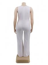 V Neck Wide Leg Plus Size Jumpsuits
