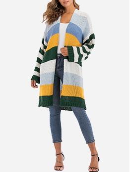 Easy Matching Patchwork Women Cardigan Coat