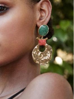 Retro Plastic Geometry Earrings For Women