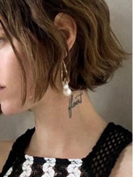 Geometric Faux-Pearl Chain Women Earrings