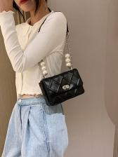 Faux-Pearl Chain Shoulder Bag For Ladies