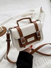 High Sense Contrast Color Messenger Bag