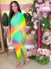 Gradient Color Two Pieces Trouser Set