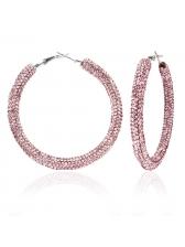 Solid Rhinestone Birthday Present Fashion Earrings