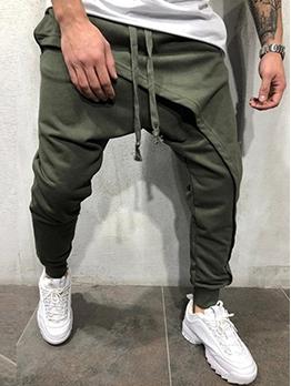 Simple Design Solid Color Mens Casual Pants