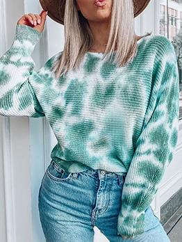 Tie Dye Fashion Grunge Style Pullover Sweater