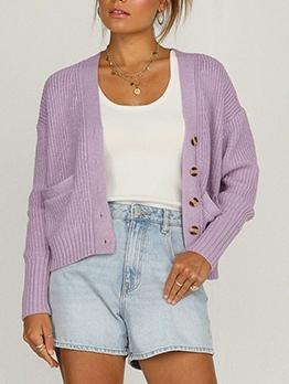 Sweet Fresh Preppy Style Casual Cardigan Coat
