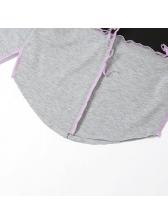 Contrast Color Mock Neck Slim Fit T Shirts