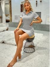Sporty Slim Fit Short Sleeve Dress