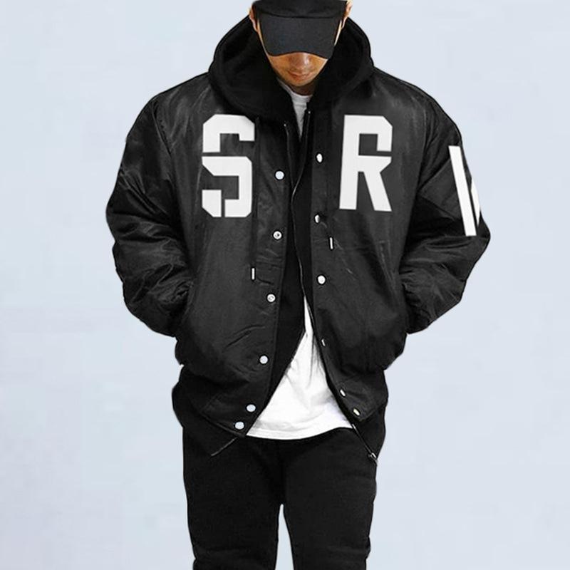 Trendy Letter Long Sleeve Bomber Jacket