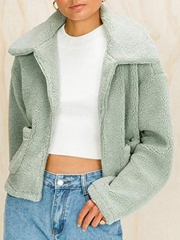 Winter Long Sleeve Women Faux Fur Coat