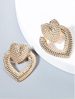 Creative Heart Geometric Metal Vintage Earrings