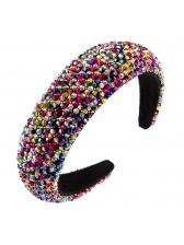 Thin Sponge Crystal Beads Prom Hair Hoop