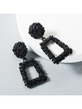 Geometric Embossed Flowers Vintage Earrings