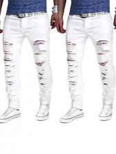 Pure Ripped Men Long Pants