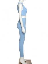 Single Shoulder Solid Color Skinny Fit Tracksuit Set