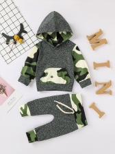 Children Camouflage Long Sleeve Hoodie And Tie-Wrap Pants