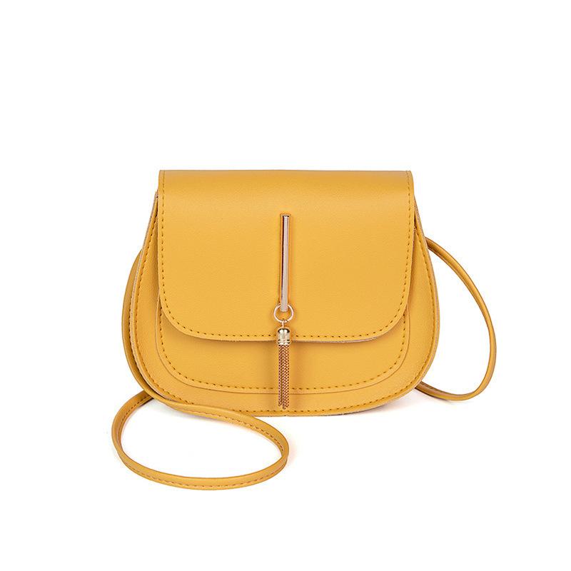 Thin Strap Tassel Pendant Solid Crossbody Bags