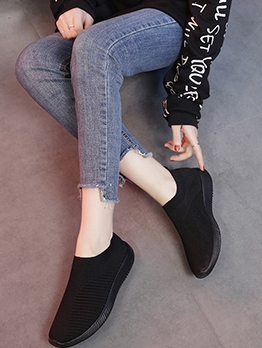 Casual Solid Breathable Slip On Women Sneaker