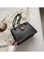 Alligator Print Stitching Color Women Shoulder Bags