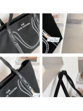 Easy Matching Printed Big Canvas Tote Bag