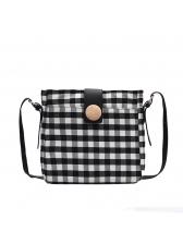 Stitching Color Plaid Women One Shoulder Bags