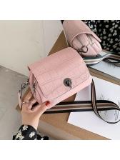 Stone Grain Removable Stripe Belt Shoulder Bags