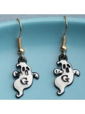 Funny Halloween Ghost Pattern Personality Earrings