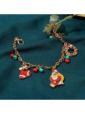 Christmas Cartoon Santa Claus Pendant Cute Bracelet