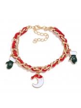 Euro Style Santa Elk Pendant Cute Bracelet