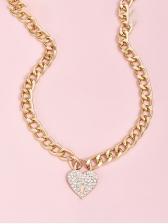 Rhinestone Heart Street Women Necklace