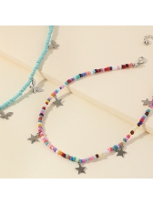 Bohemian Style Butterfly Star Colorful Beaded Necklace