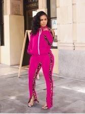 Leopard Matching Fashion Sport Trouser Set