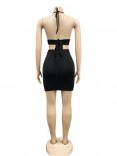 Rhinestone Decor Tie Wrap Two Piece Skirt Set