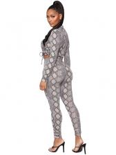Catwalk Snake Print Two Pieces Trouser Set