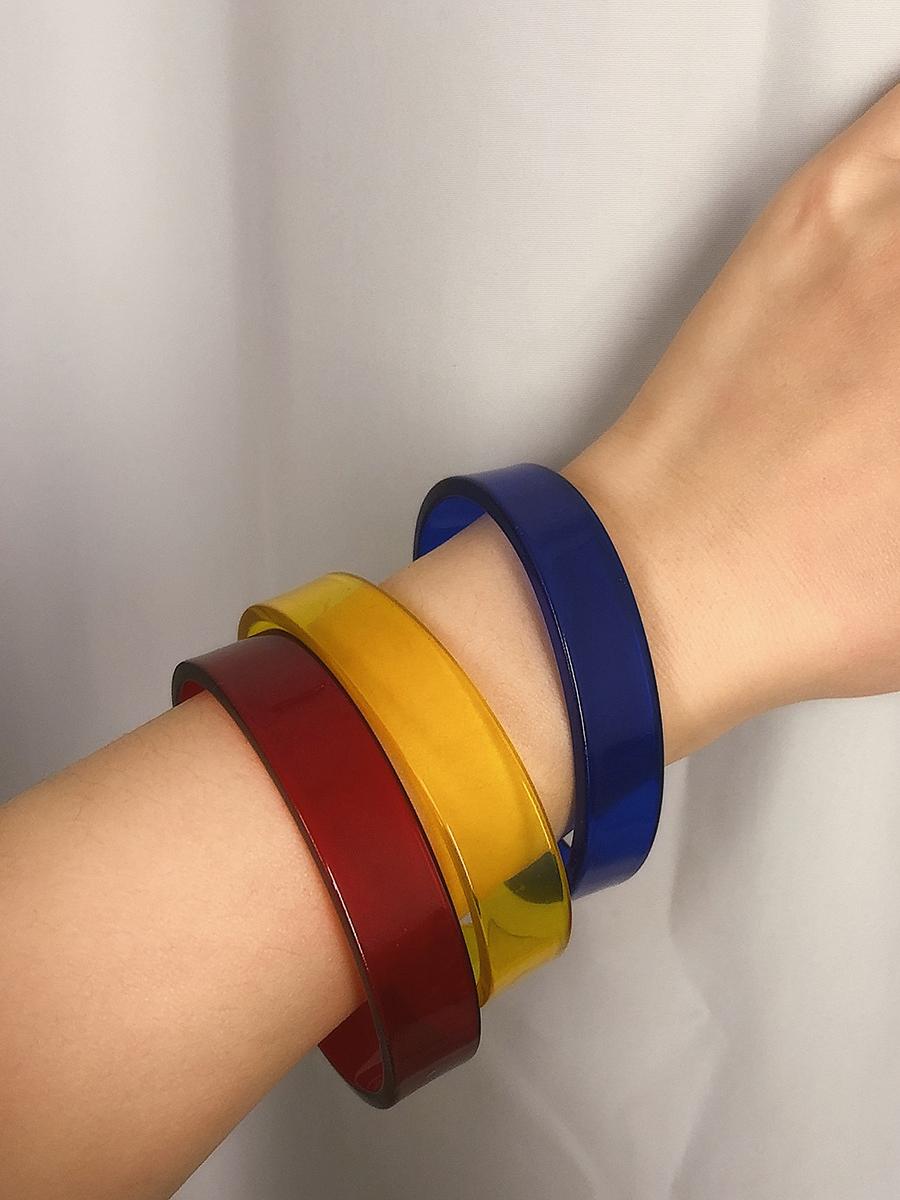 Candy Color Acetic Acid Opened Women Bracelet