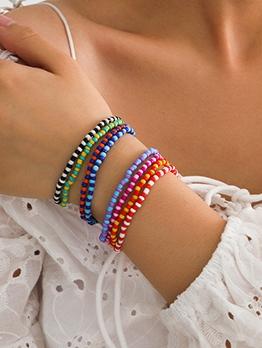 Bohemian Style Multicolored Beaded Bracelet Set