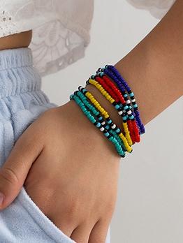 Colorful Beaded Easy Matching Bracelet Set