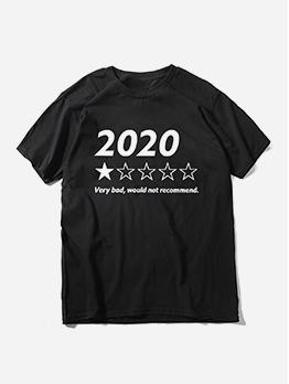 Funny Print Short Sleeve Cotton T-Shirt