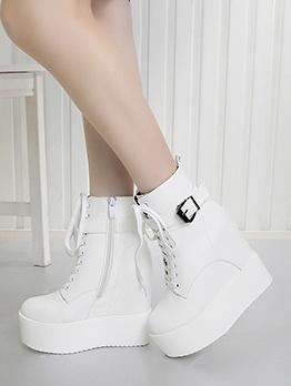 High Platform Inner Plush Womens Boots