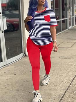 Autumn Short Sleeve Long Pants Sport Sets