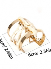 National Style Rope Winding Beads Alloy Bangle