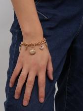 Punk Rivets Pendant Thick Chain Women Bracelet