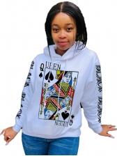 Poker Pattern Printing Hoodies For Women